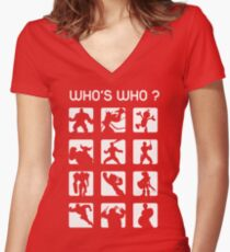 Who's who? (normal difficulty) Women's Fitted V-Neck T-Shirt