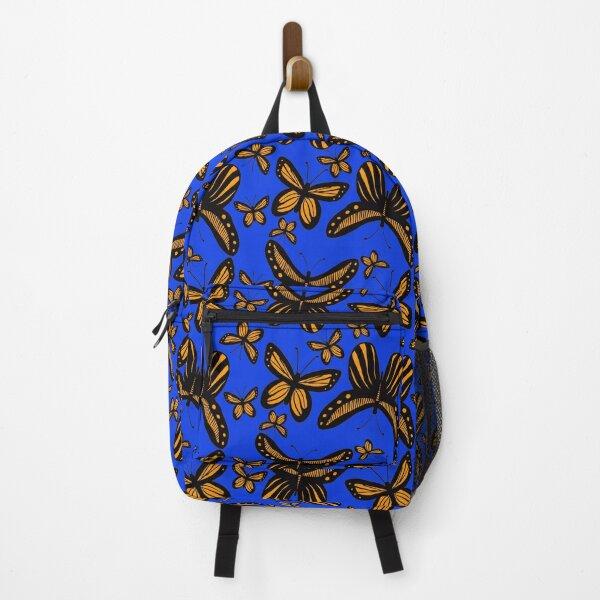 Folkart Butterfly Monarch - Blue & Orange Backpack