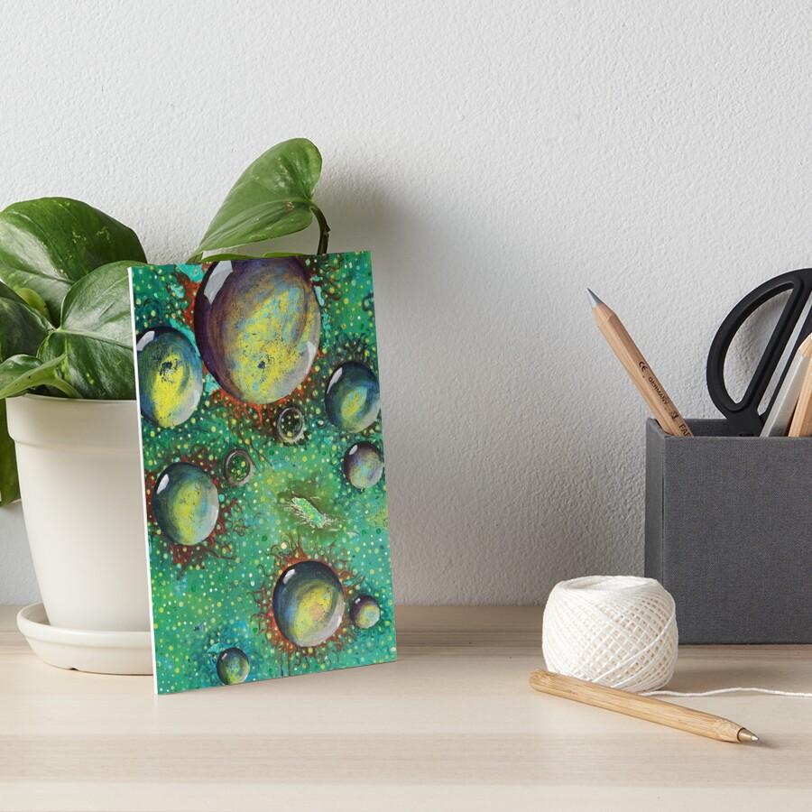 Virus Floating Spheres  Art Board Print