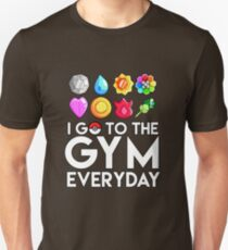 Pokemon - I GO TO THE GYM EVERY DAY - Transparent T-Shirt