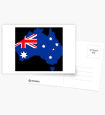 Map of Australia Postcards