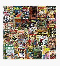 Comic Book Cover Collage Photographic Print