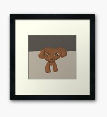 Cartoon Dog Framed Print