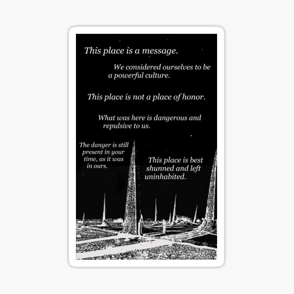 long-time nuclear waste warning messages.  Sticker
