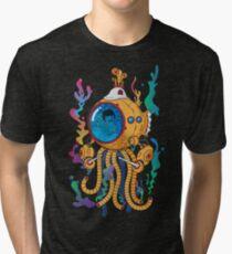 Octopod yellow Garden  Tri-blend T-Shirt