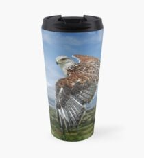 The Red-tailed Hawk over Dungarvin Bay  Travel Mug