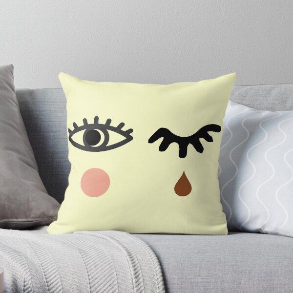 Eyelash and Teardrop Throw Pillow