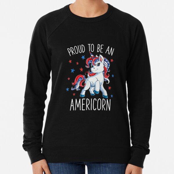 Americorn Unicorn 4th of July Lightweight Sweatshirt