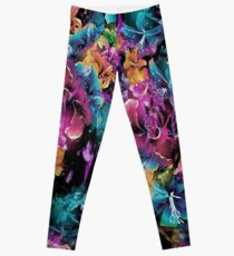 Cosmic Space Flowers Leggings