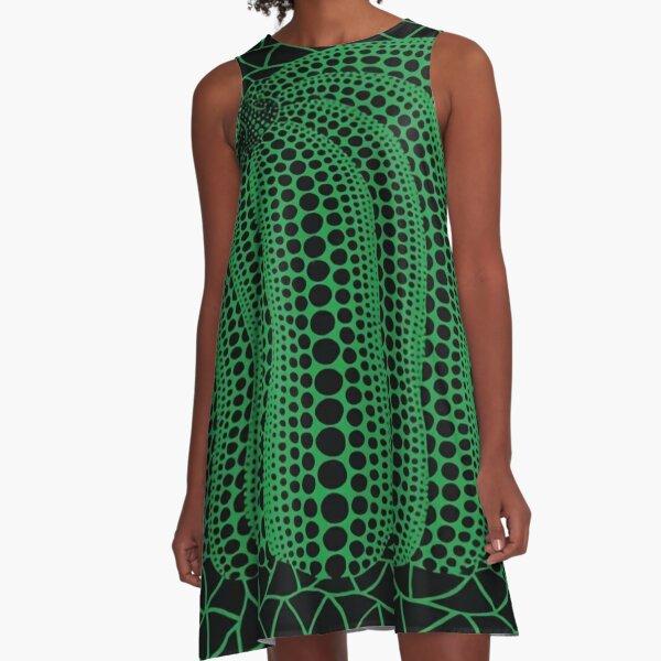 Green Pumpkin Yayoi Kusama A-Line Dress