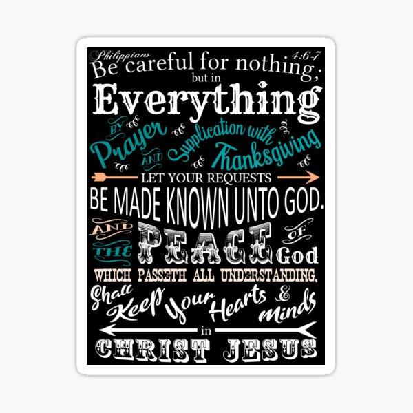 Philippians 4:6, 7 KJV Sticker