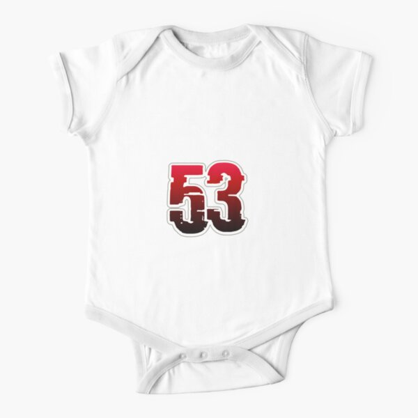 Creepy Red Number 53 Short Sleeve Baby One-Piece