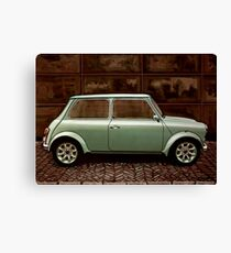 Austin Mini Cooper Mixed Media Canvas Print