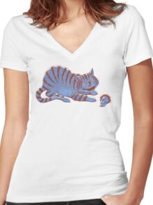 Schroedinger's hairball Women's Fitted V-Neck T-Shirt