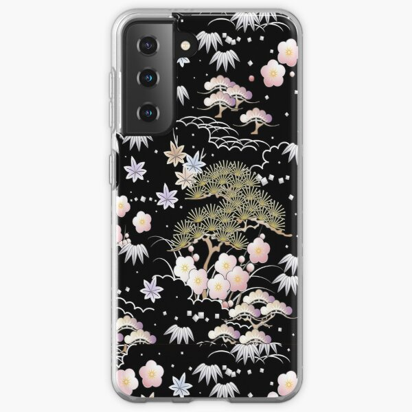 Cosmic flowers Bohemian Pastel floral art paint texture design, Abstract art. iPhone and Samsung Galaxy case cover Samsung Galaxy Soft Case