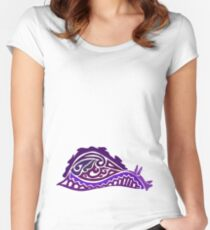 Sea Hare Tribal Design - Colored  Women's Fitted Scoop T-Shirt