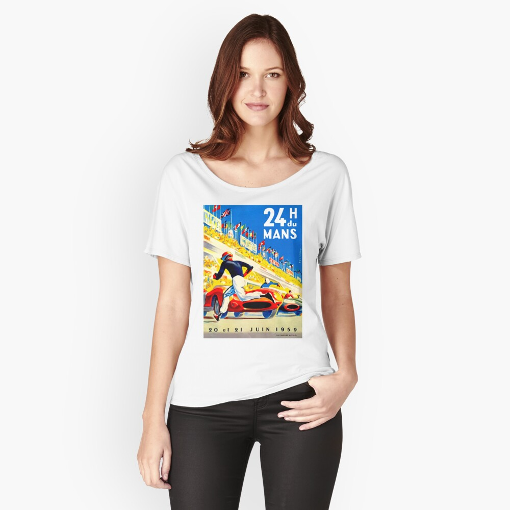 """MANS"" 24 Stunden Grand Prix Autorennen Baggyfit T-Shirt"