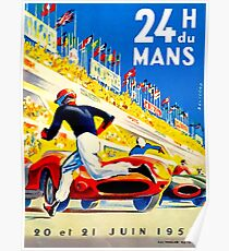 """MANS"" 24 Hour Grand Prix Auto Race Poster"
