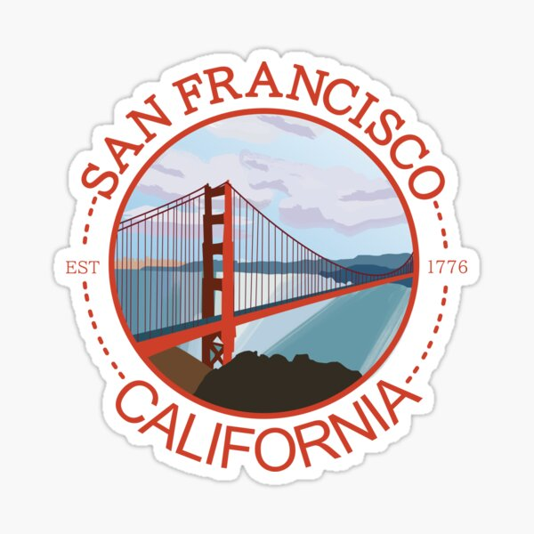 SAN FRANCISCO CALIFORNIA BADGE Sticker