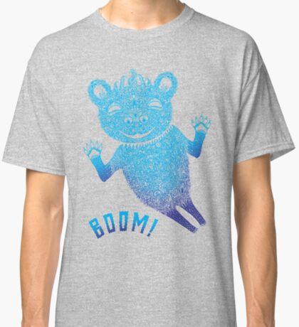 Blue Berlin Bear Goes Boom Classic T-Shirt