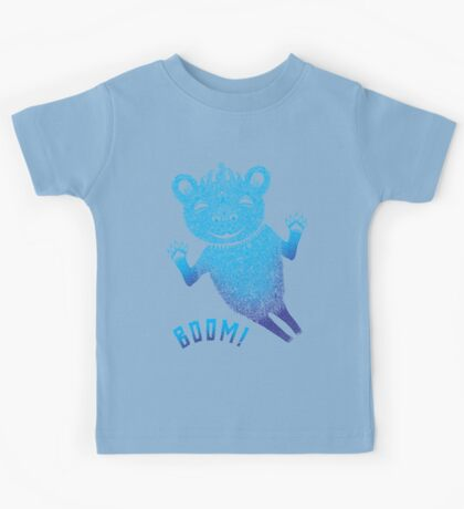 Blue Berlin Bear Goes Boom Kids Clothes