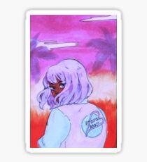 pastel space babe Sticker