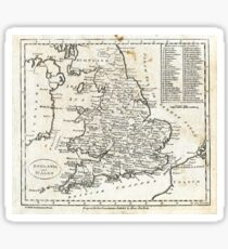 c1810 Map of England And Wales Sticker