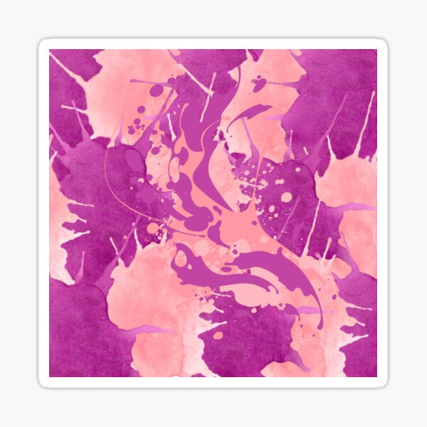 Psychedelic Pink and Mauve Sticker