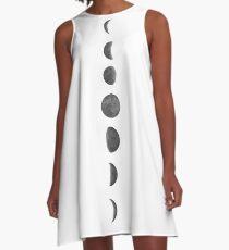 Mondphasen A-Linien Kleid