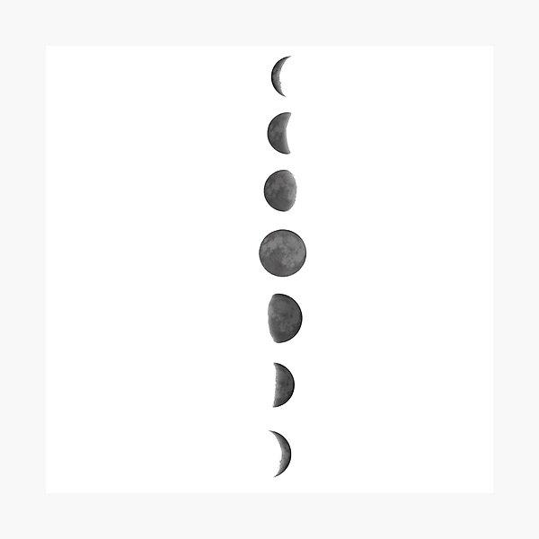 Mondphasen Fotodruck
