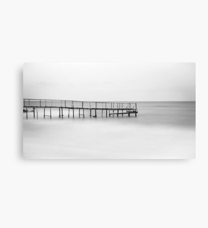 The Lonely Pier - B/W Canvas Print