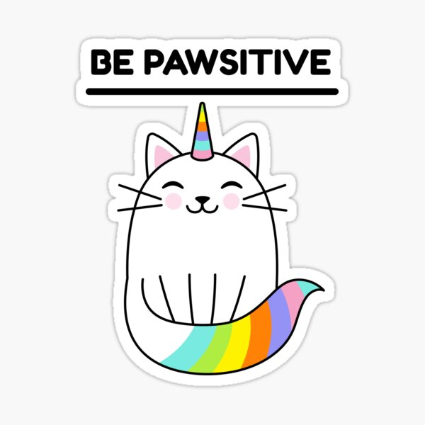 Positive cat. Sticker