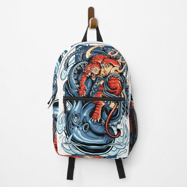 Tiger vs Octopus Backpack