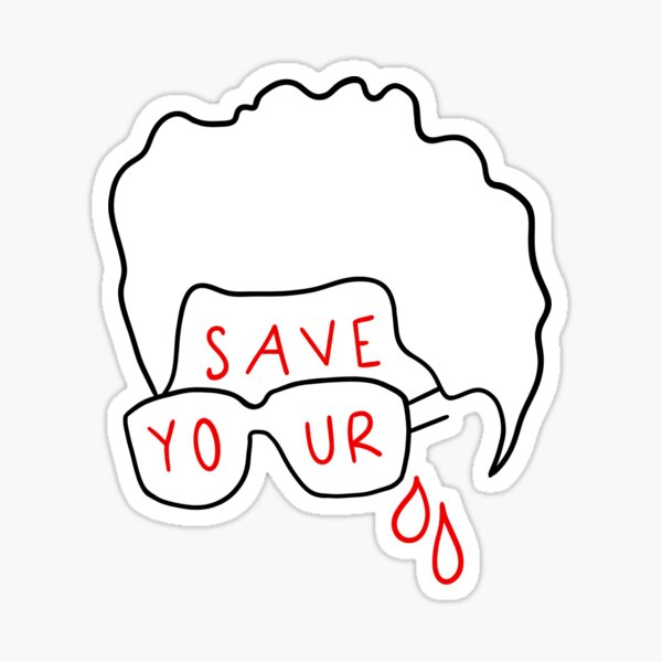 """The Weeknd """"Save Your Tears"""" (sticker and more) Sticker"""