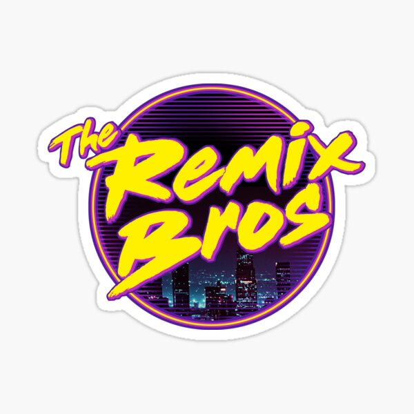 The Remix Bros Logo Design Sticker