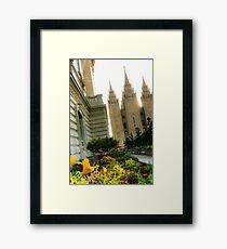 SLC LDS Temple Tilt Framed Print