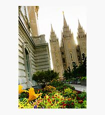SLC LDS Temple Tilt Photographic Print