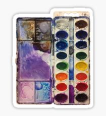 water color pallet no background Sticker