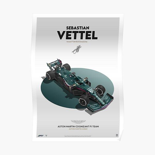 Sebastian Vettel F1 2021 Aston Martin Autodesign Poster