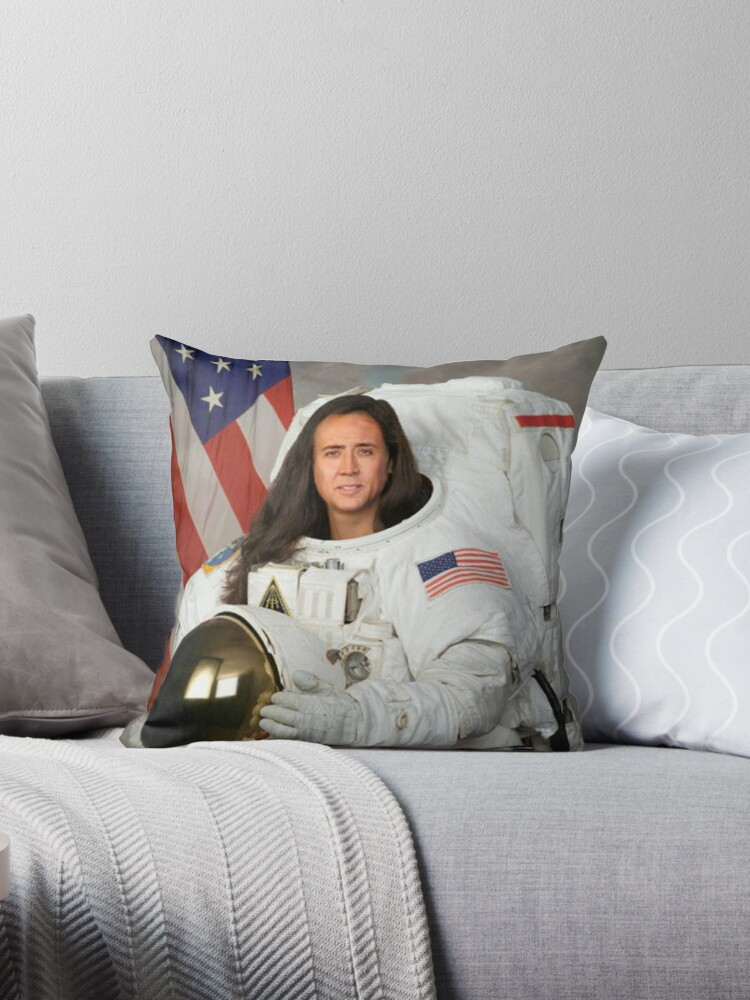 """Nicolas Cage"" Throw Pillows By Mina122214"