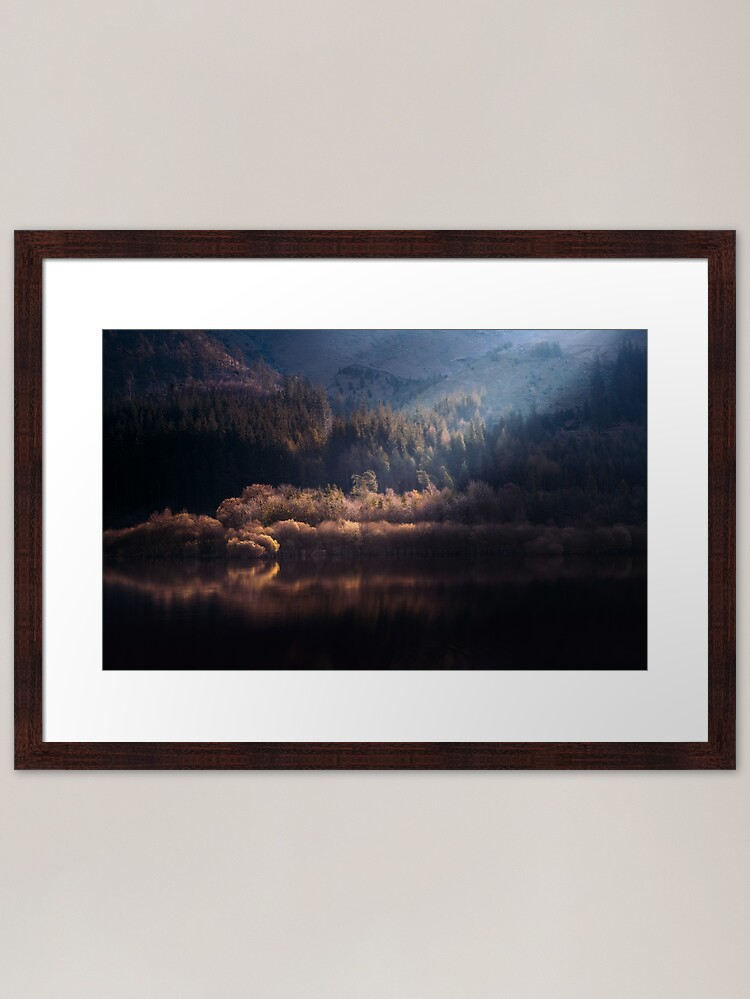 Alternate view of Light and reflections - Over the shoulder of Helvellyn Framed Art Print