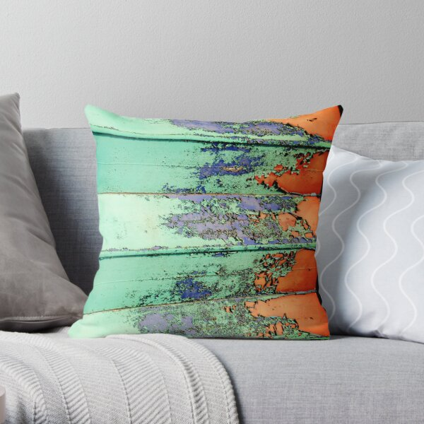 Abstract With Rust. Throw Pillow