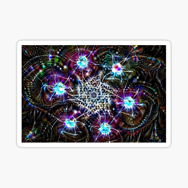 """Tetragrammaton"" Algorithmically Generated Sacred Geometry Design Sticker"