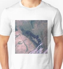 Bighorn National Forest Wyoming Satellite Image T-Shirt