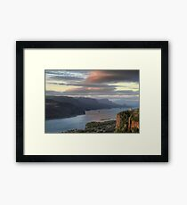 Sunset on Crown Point Framed Print