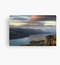 Sunset on Crown Point Canvas Print
