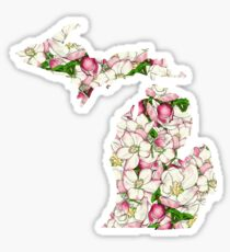 Michigan Flowers Sticker