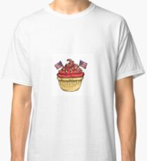 Festive Independence Day Cupcake Classic T-Shirt