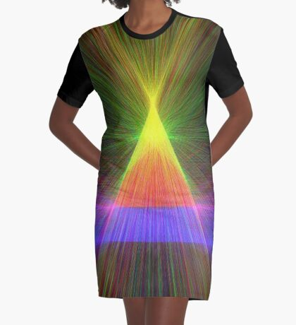 Linify Linify Light Tower, Pyramid Graphic T-Shirt Dress