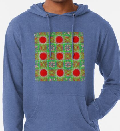 Nine Red Button Planets Lightweight Hoodie